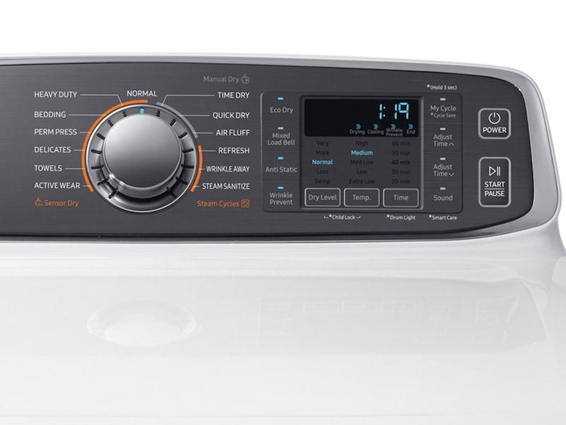 Model: DVE52M7750W | Samsung DV7750 7.4 cu. ft. Electric Dryer