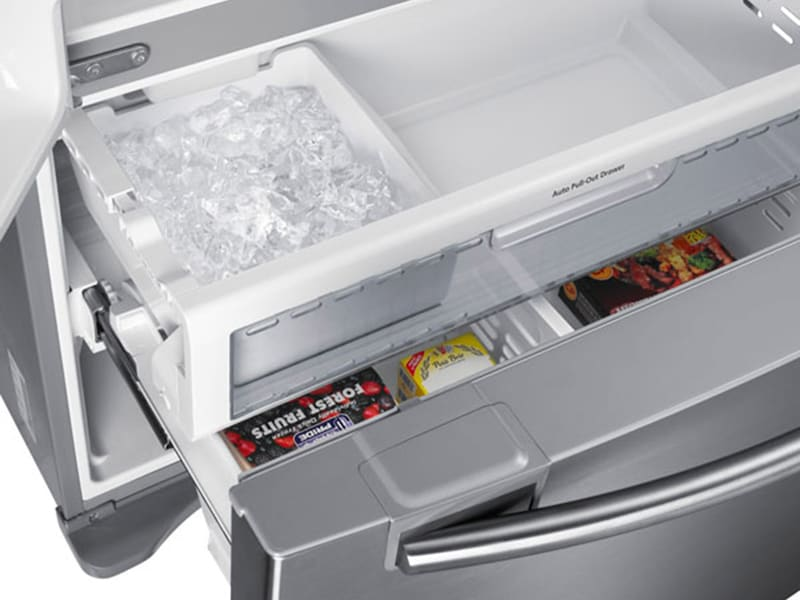 Model: RF18HFENBSR | Samsung 18 cu. ft. Counter Depth French Door Refrigerator