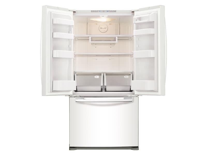 Model: RF18HFENBWW | Samsung 18 cu. ft. Counter Depth French Door Refrigerator