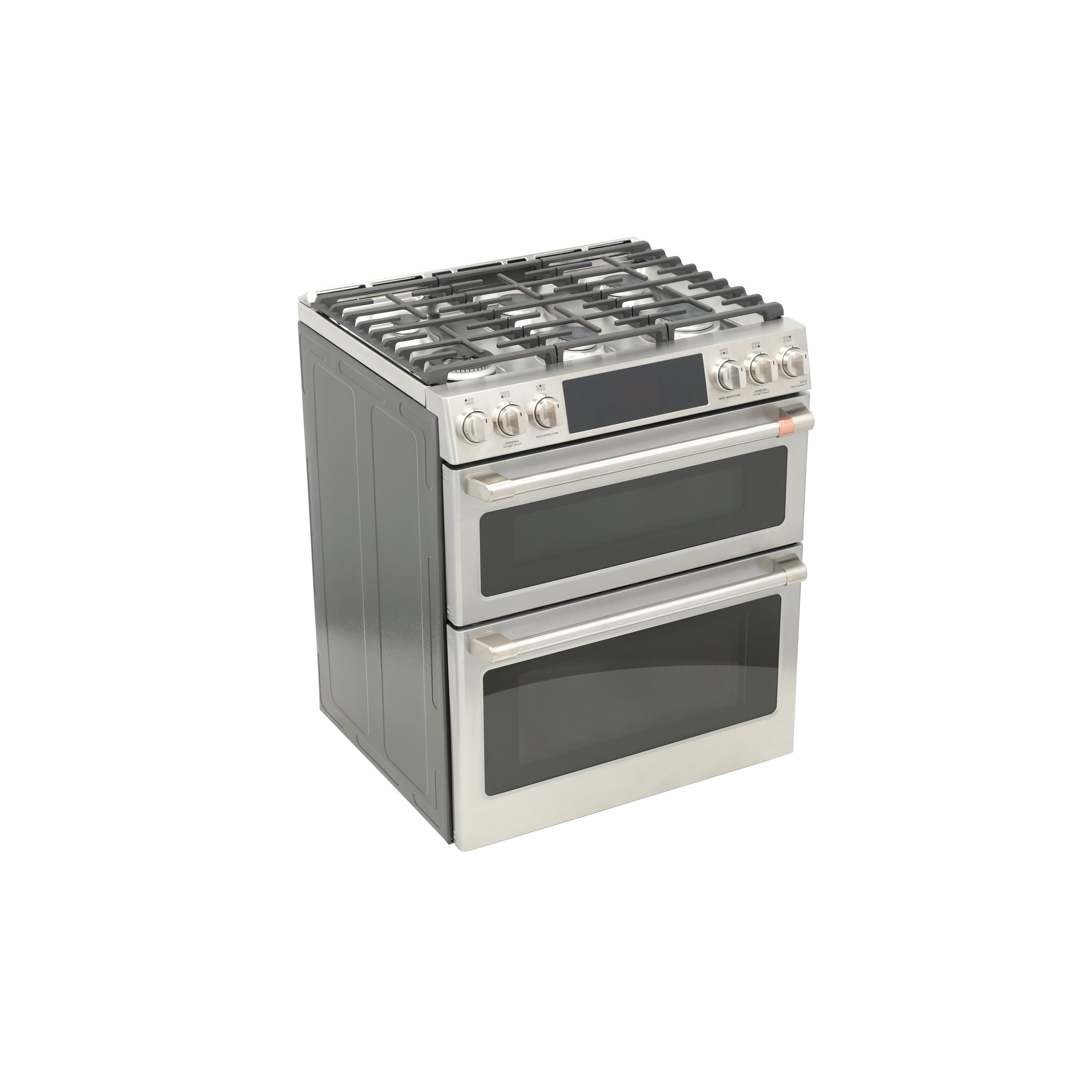 "Model: C2S950P2MS1 | Cafe Café™ 30"" Smart Slide-In, Front-Control, Dual-Fuel, Double-Oven Range with Convection"