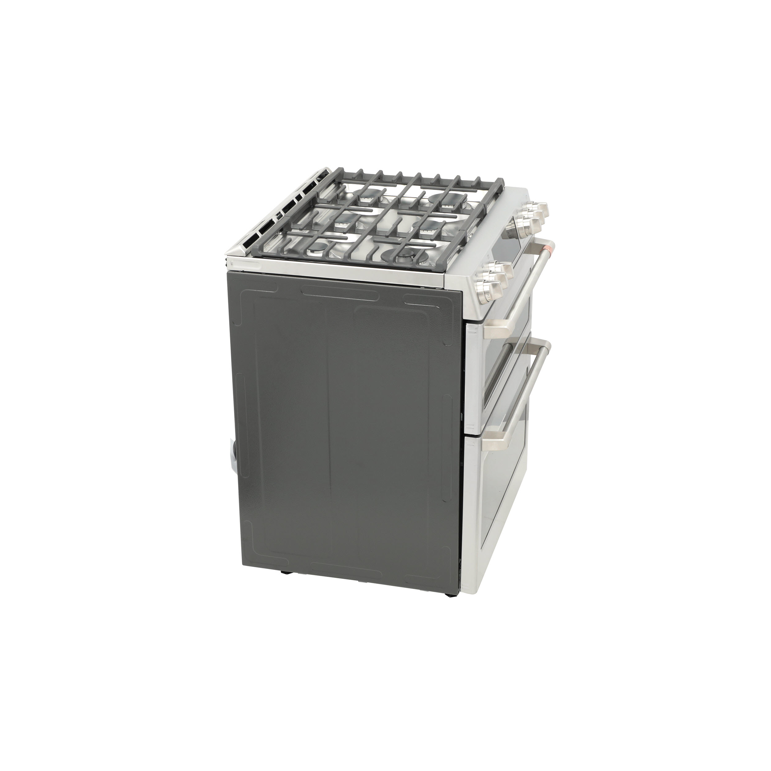 """Model: CGS750P2MS1   Cafe Café™ 30"""" Smart Slide-In, Front-Control, Gas Double-Oven Range with Convection"""