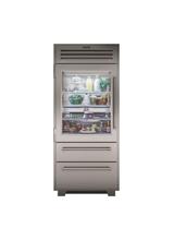 "Model: PRO3650A/RH | Sub-Zero 36"" PRO Refrigerator/Freezer with Glass Door"