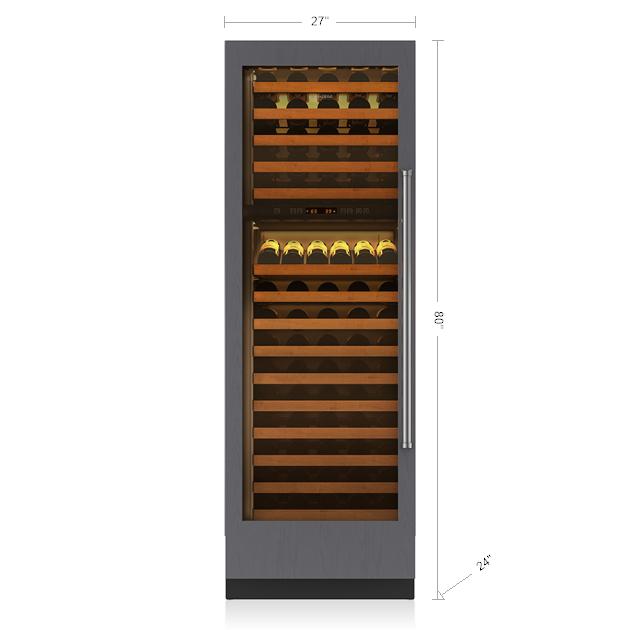 "Sub-Zero 27"" Integrated Column Wine Storage - Panel Ready"