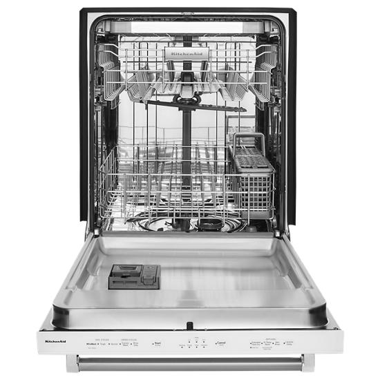 Model: KDTE234GBL | KitchenAid 46 DBA Dishwasher with Third Level Rack