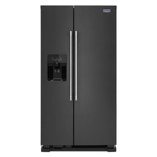 Model: MSS25C4MGK | 36-Inch Wide Side-by-Side Refrigerator with Exterior Ice and Water Dispenser - 25 Cu. Ft.