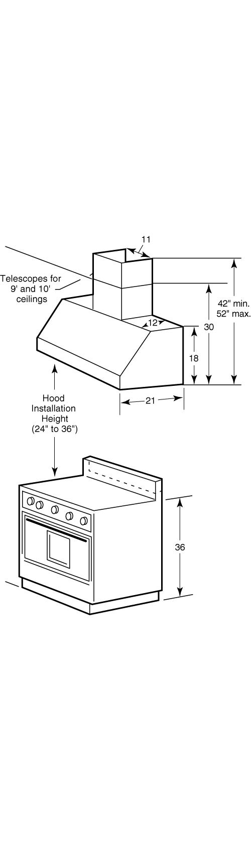 "Model: CVW93614MWM | Cafe Café™ 36"" Commercial Hood"