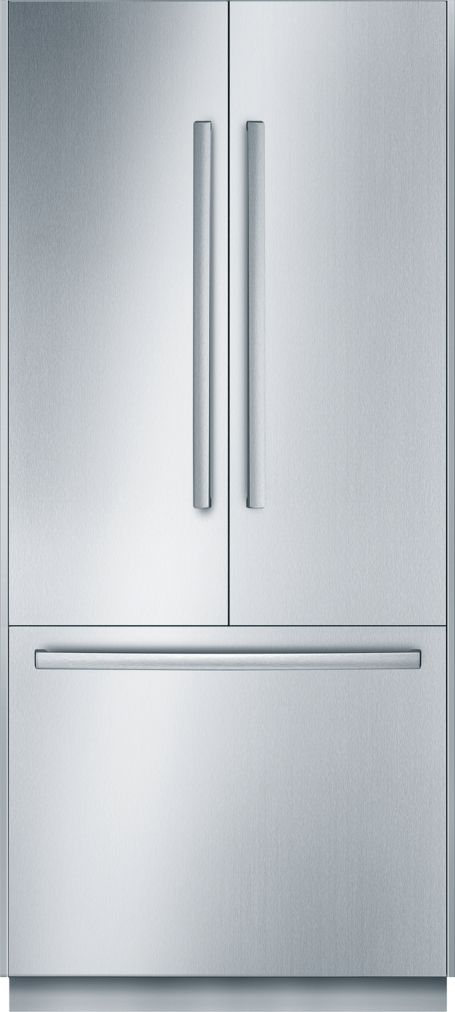 "Bosch Benchmark®36"" Built-In French Door Refrigerator, B36BT830NS, Stainless Steel"