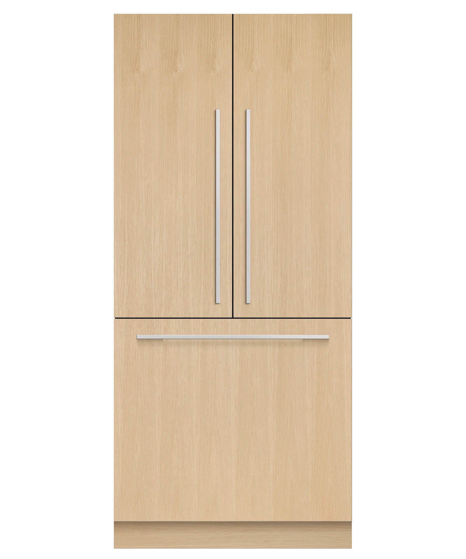 """Fisher and Paykel DISPLAY MODEL--Integrated French Door Refrigerator Freezer, 36"""", 16.8 cu ft, Panel Ready, Ice"""