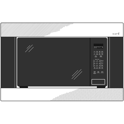 Model: CEB515M2NS5 | Cafe Café™ 1.5 Cu. Ft. Smart Countertop Convection/Microwave Oven in Platinum Glass