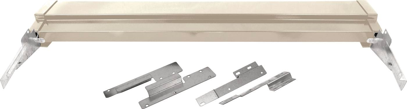Model: 81200140 | Bisque Slide-In or Drop-In Range Adjustable Metal Backguard