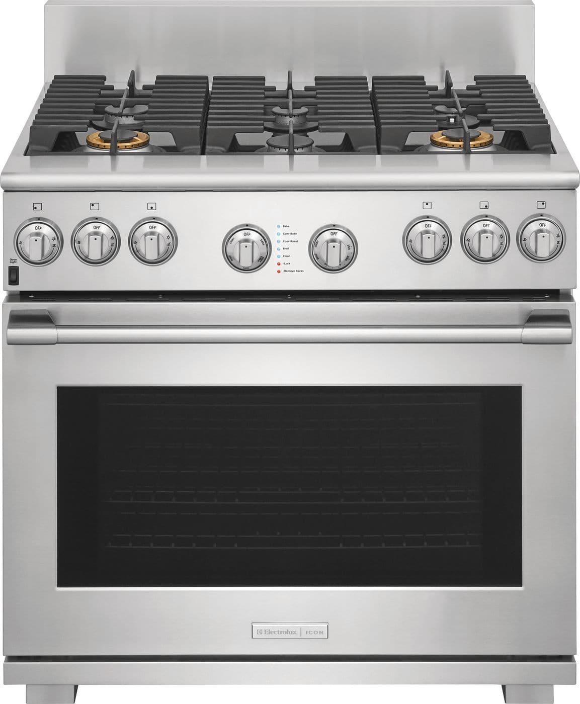 """Electrolux ICON Electrolux ICON® 36"""" Dual-Fuel Freestanding Range"""