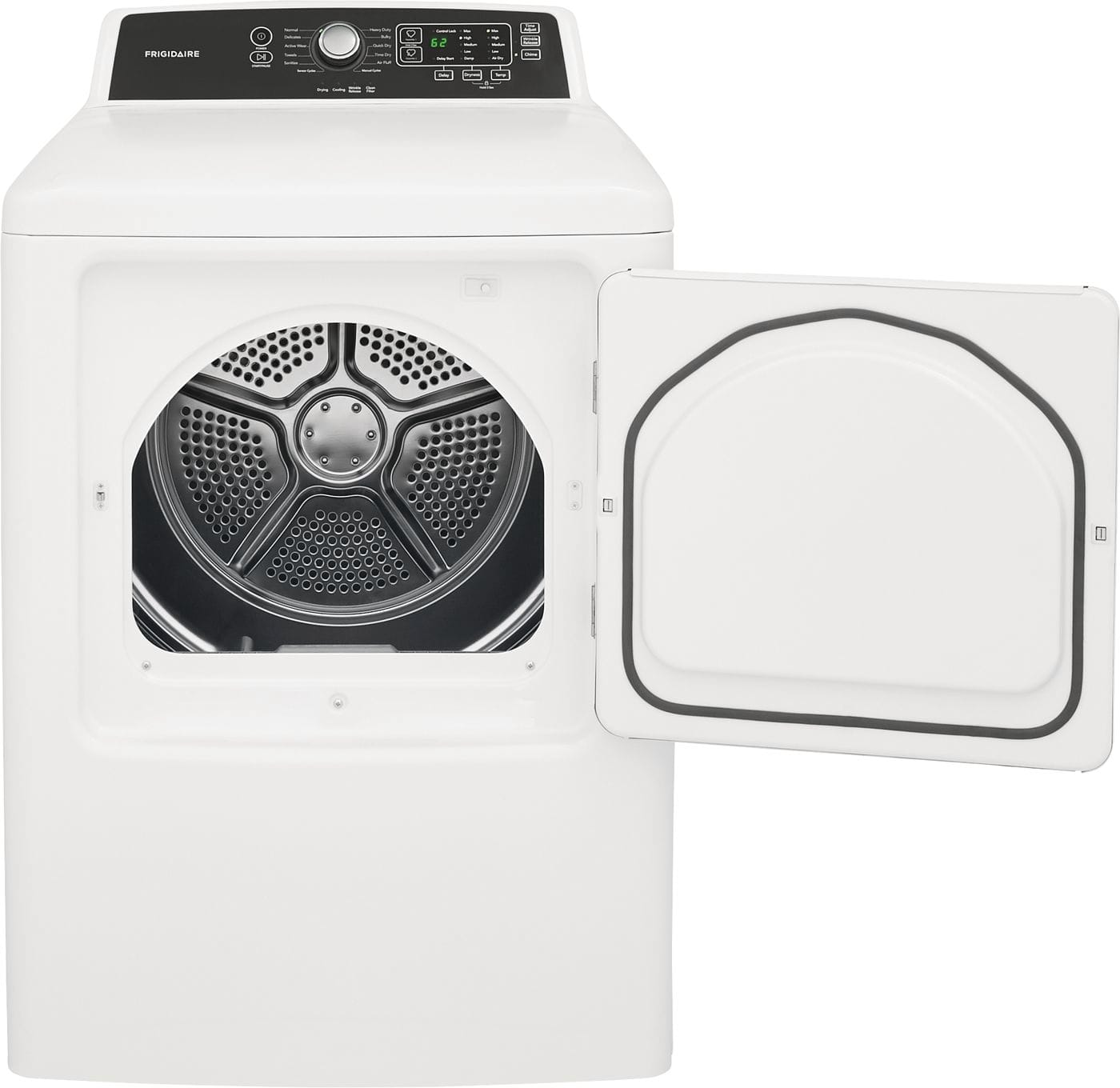 Model: FFRE4120SW | Frigidaire 6.7 Cu. Ft. Free Standing Electric Dryer