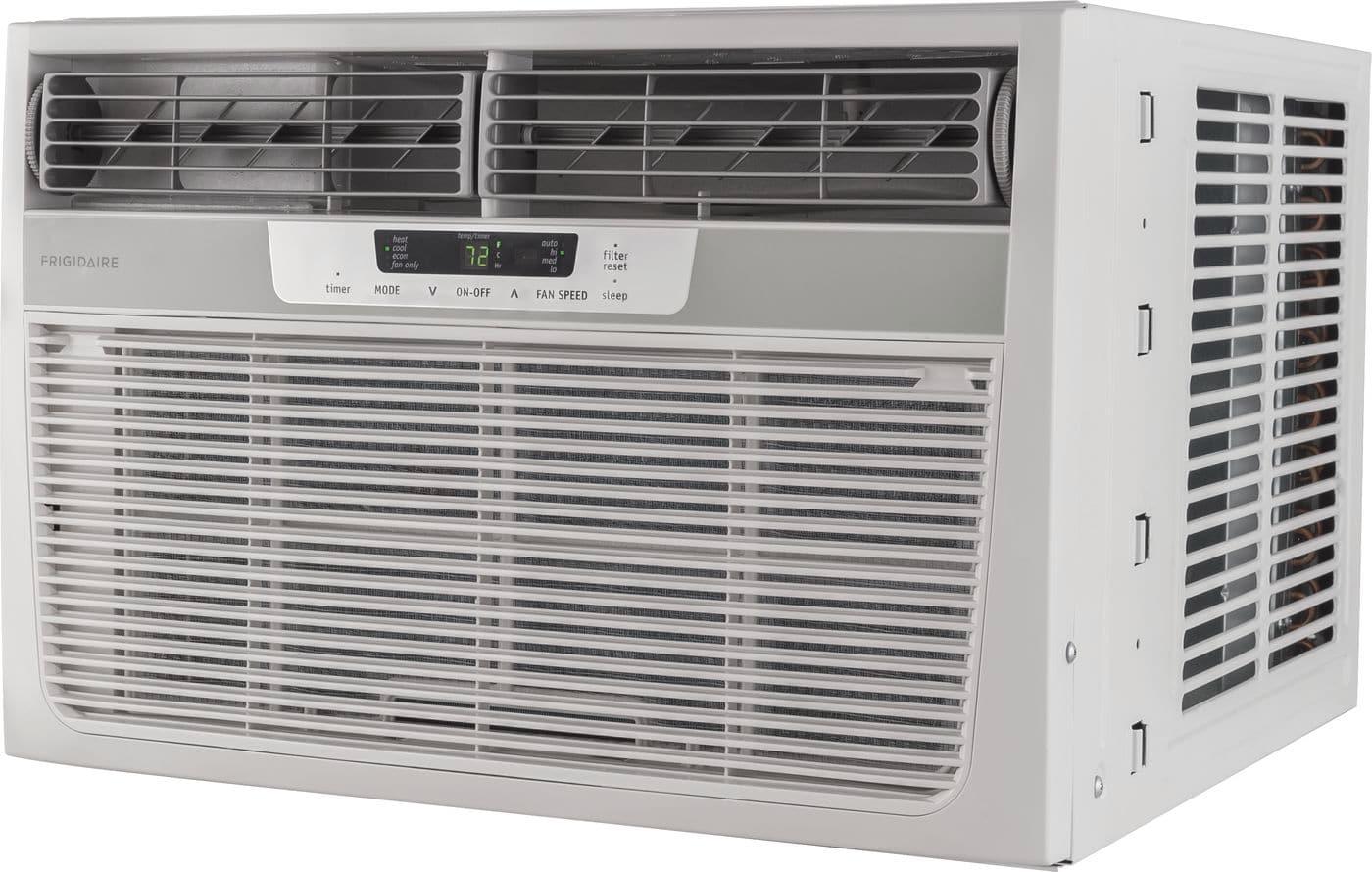 Model: FFRH0822R1 | Frigidaire 8,000 BTU Window-Mounted Room Air Conditioner with Supplemental Heat