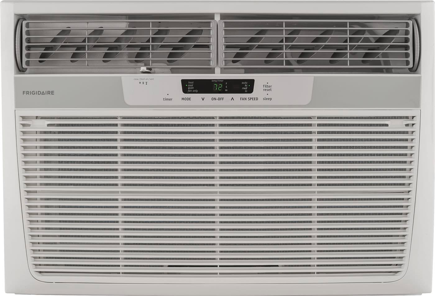 Model: FFRH2522R2 | Frigidaire 25,000 BTU Window-Mounted Room Air Conditioner with Supplemental Heat