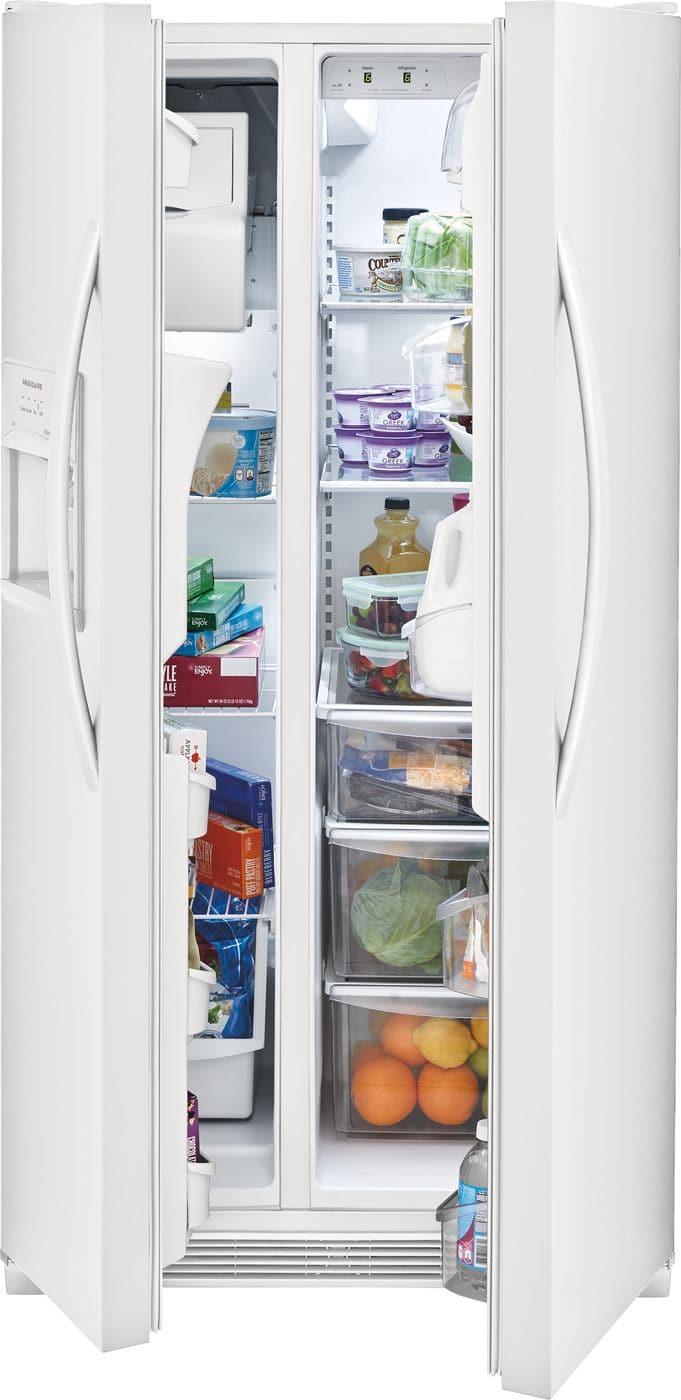 Model: FFSS2315TP | Frigidaire 22.1 Cu. Ft. Side-by-Side Refrigerator