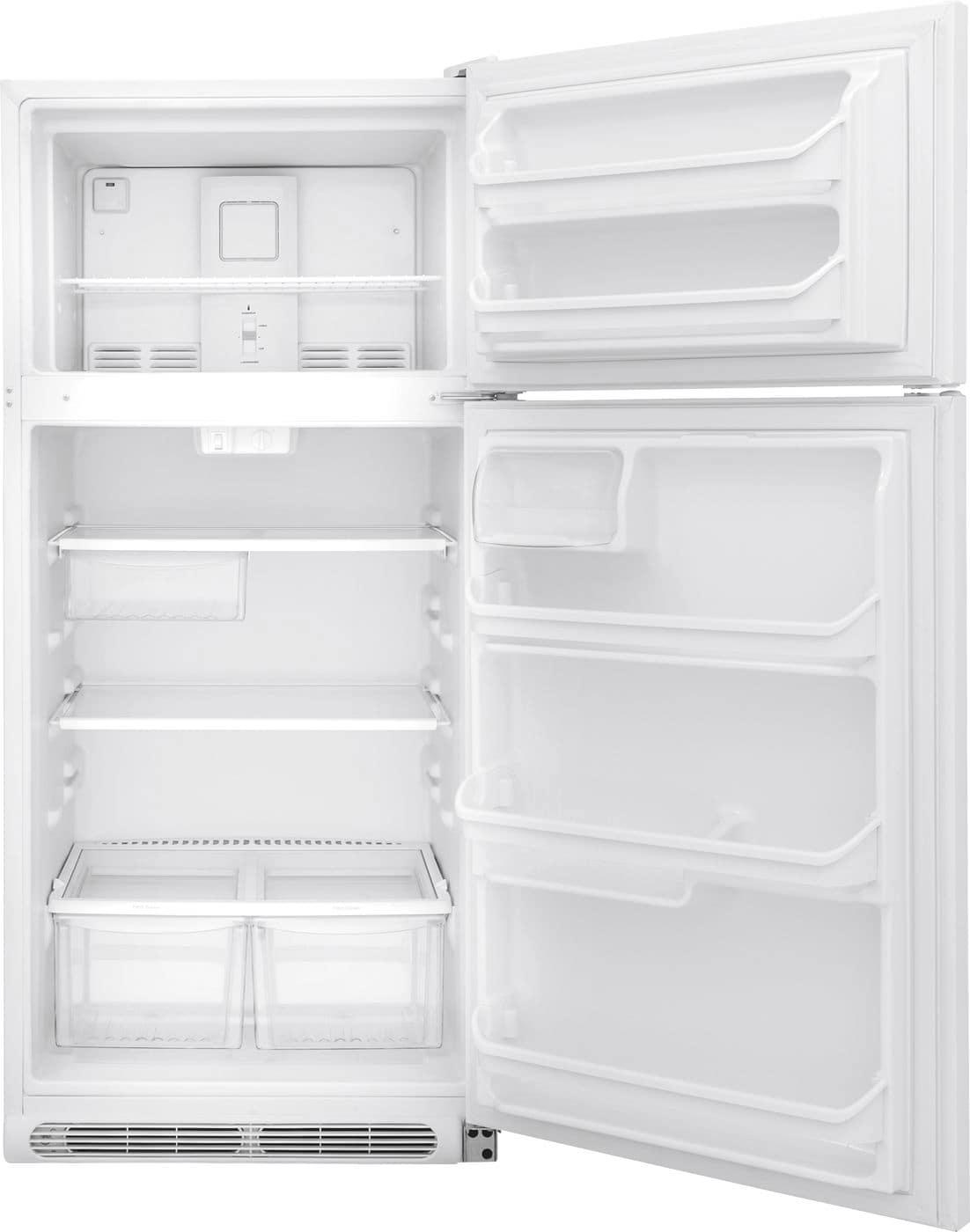 Model: FFTR1821TW | Frigidaire 18 Cu. Ft. Top Freezer Refrigerator