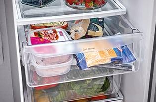 Model: FFSC2323TS | Frigidaire 22.0 Cu. Ft. Counter-Depth Side-by-Side Refrigerator