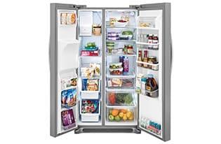 Model: FGSS2635TP   Frigidaire 25.5 Cu. Ft. Side-by-Side Refrigerator