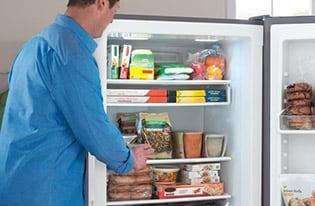 Model: FGVU21F8QF | Frigidaire 20.5 Cu. Ft. 2-in-1 Upright Freezer or Refrigerator