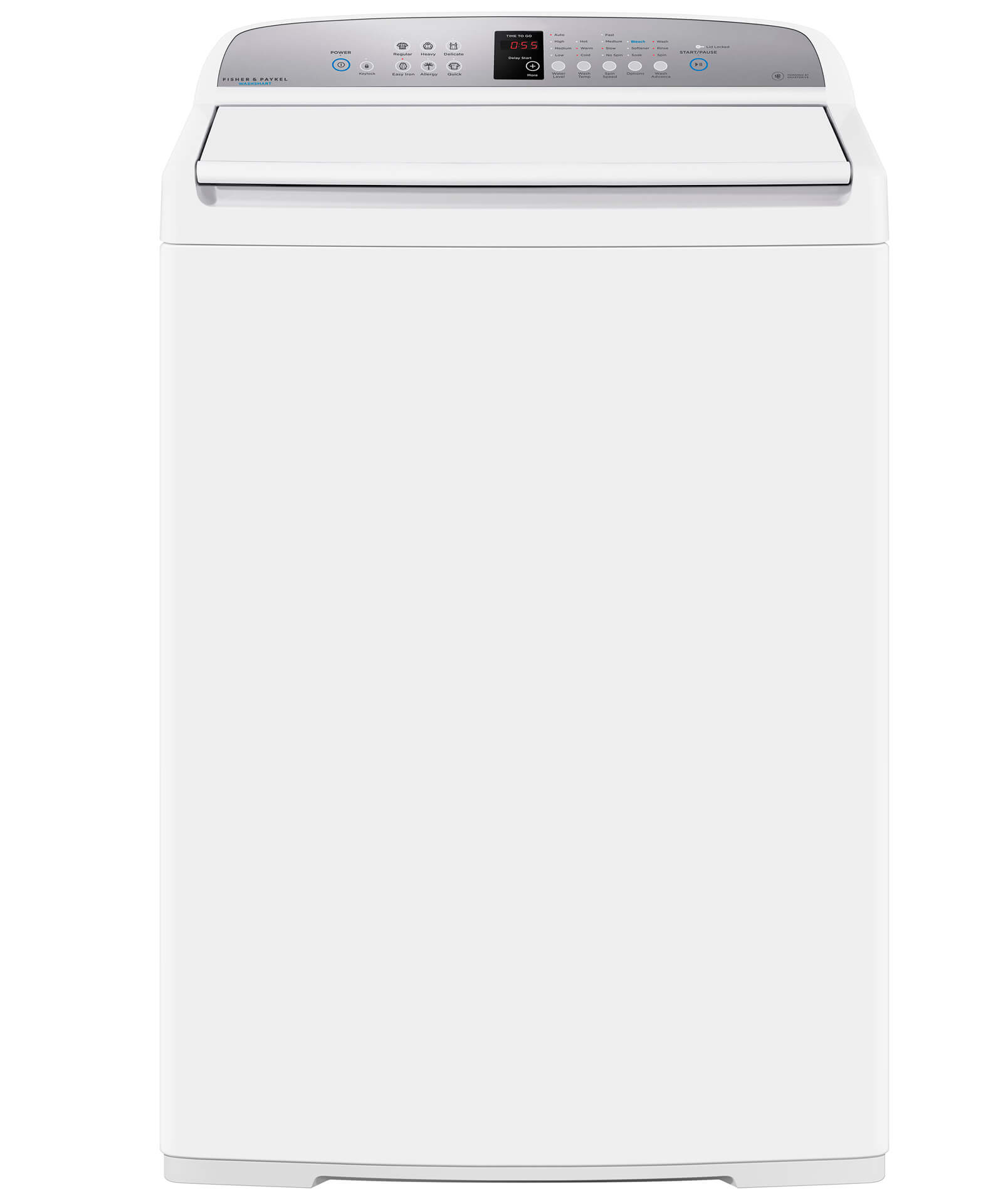 Fisher and Paykel Top Loader Washing Machine, 3.9 cu ft WashSmart™