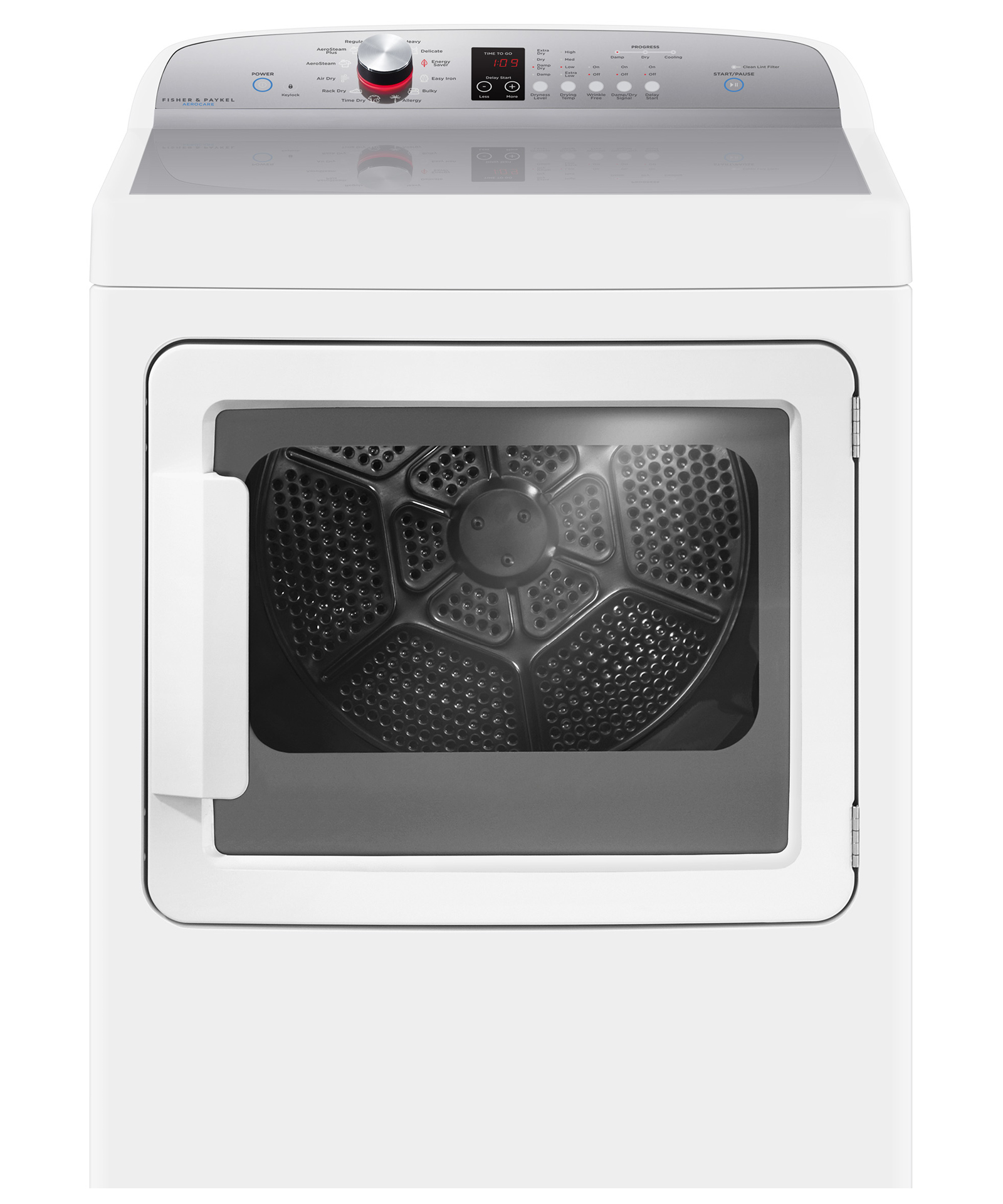 Fisher and Paykel Gas Dryer, SmartTouch™ Dial and Steam Cycles
