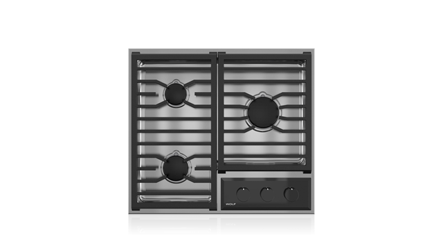 "Wolf 24"" Transitional Framed Gas Cooktop"