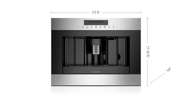 "Model: EC24/S | Wolf 24"" Coffee System - Stainless Steel"