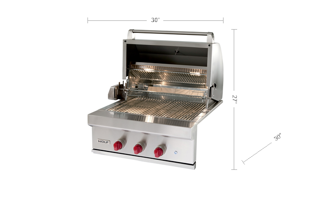 "Model: OG30 | Wolf 30"" Outdoor Gas Grill"
