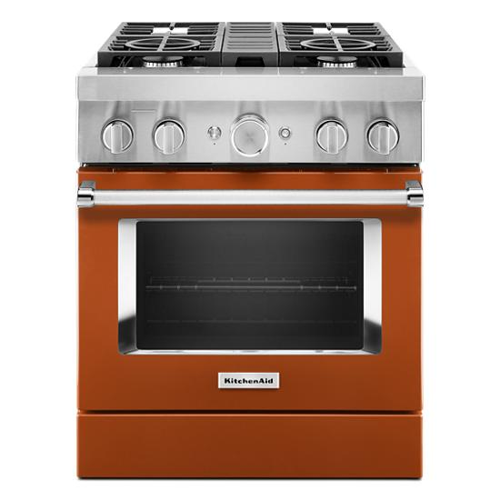 KitchenAid KitchenAid® 30'' Smart Commercial-Style Dual Fuel Range with 4 Burners