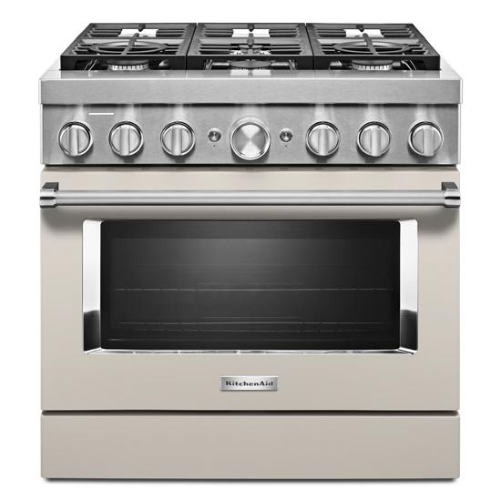 KitchenAid KitchenAid® 36'' Smart Commercial-Style Dual Fuel Range with 6 Burners