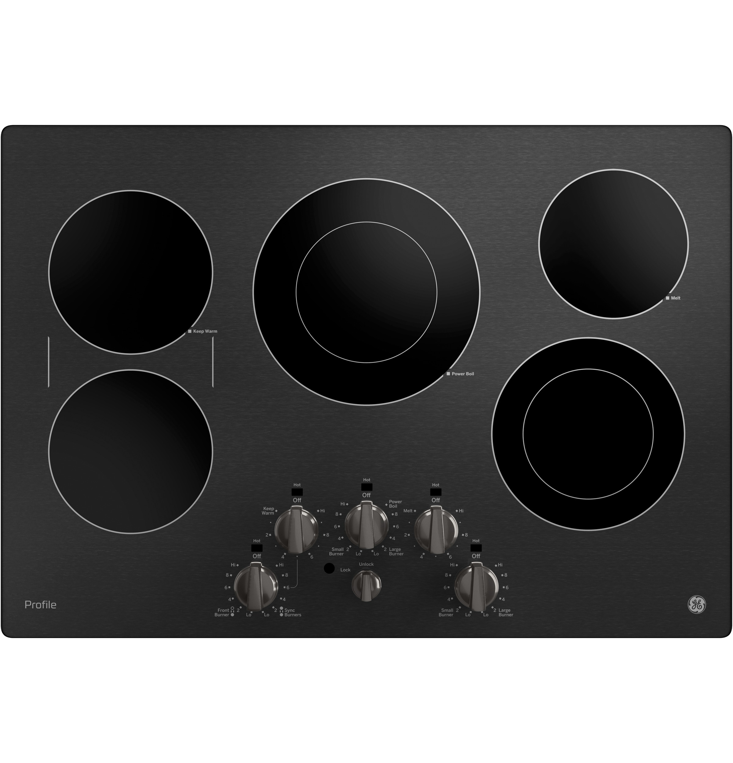 "GE Profile GE Profile™ 30"" Built-In Knob Control Electric Cooktop"