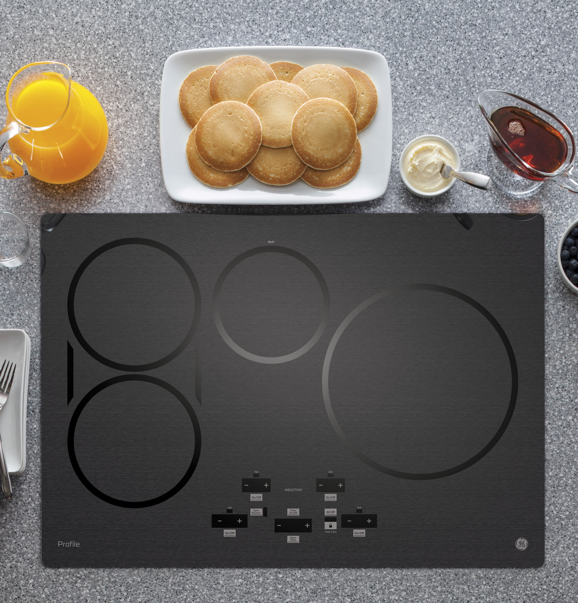 "Model: PHP9030BMTS | GE Profile GE Profile™ 30"" Built-In Touch Control Induction Cooktop"
