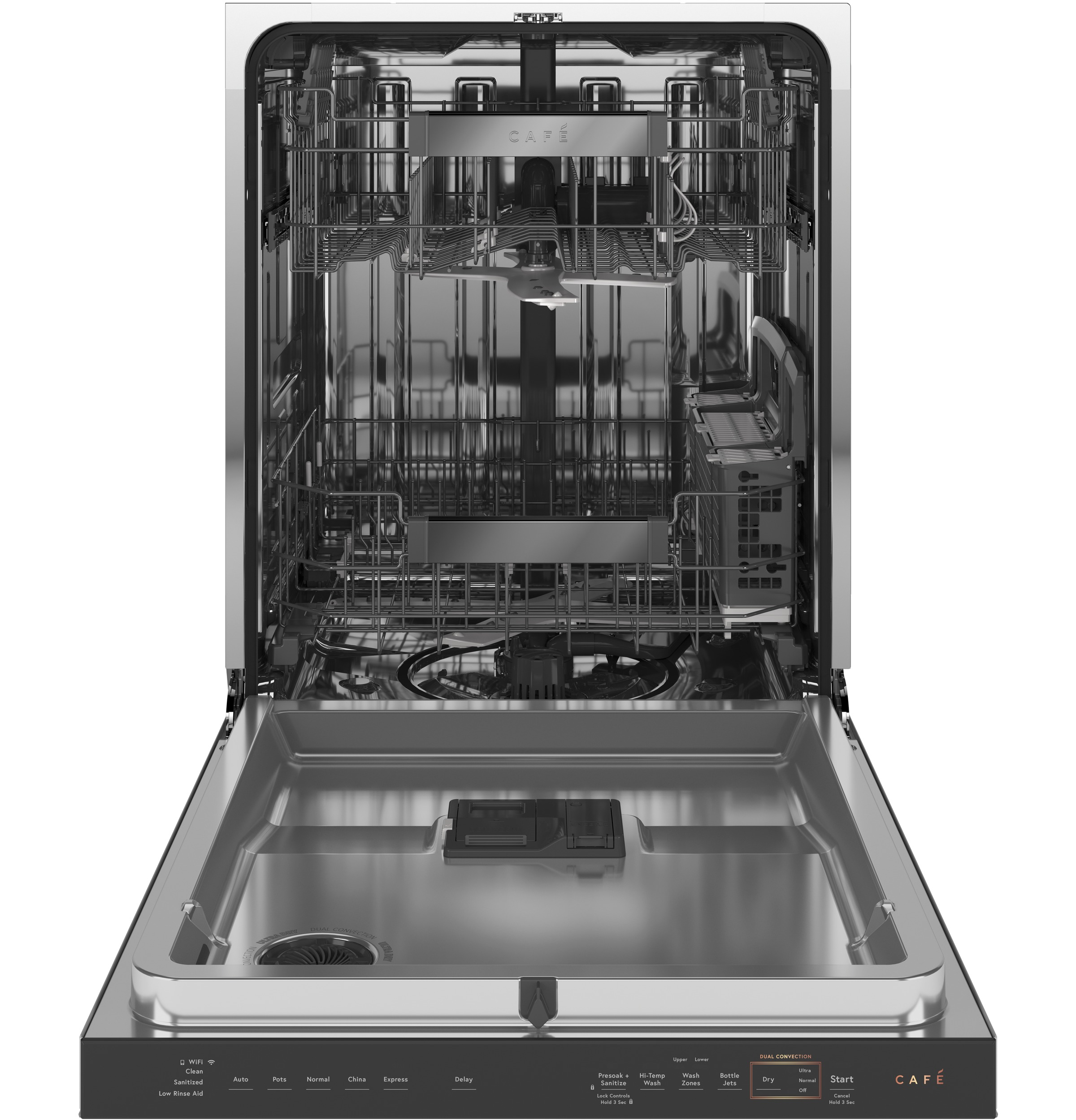 Model: CDT855M5NS5 | Cafe Café™ Smart Stainless Steel Interior Dishwasher with Sanitize and Ultra Wash & Dual Convection Ultra Dry in Platinum Glass