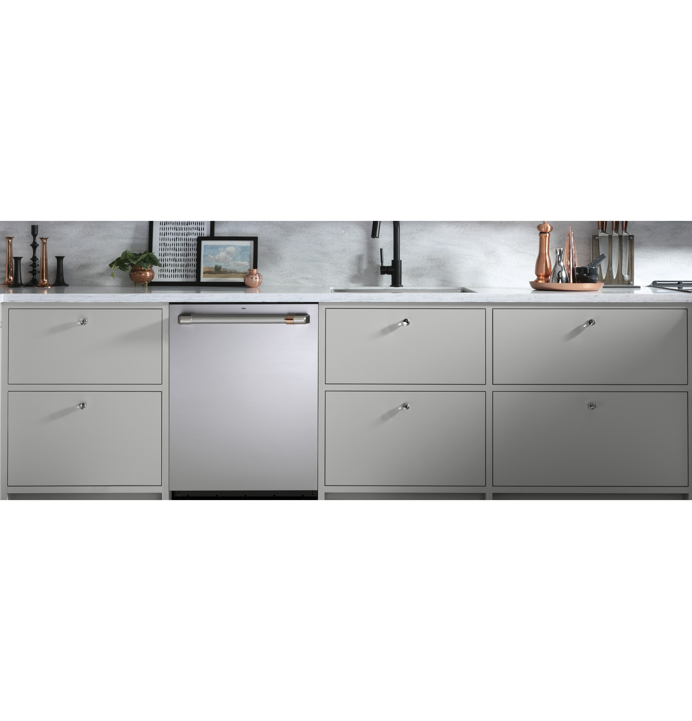 Model: CDT800P2NS1 | Cafe Café™ Stainless Steel Interior Dishwasher with Sanitization and Ultra Dry