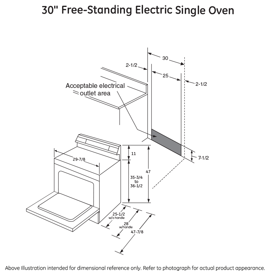 "Model: JB655YKFS | GE GE® 30"" Free-Standing Electric Convection Range"