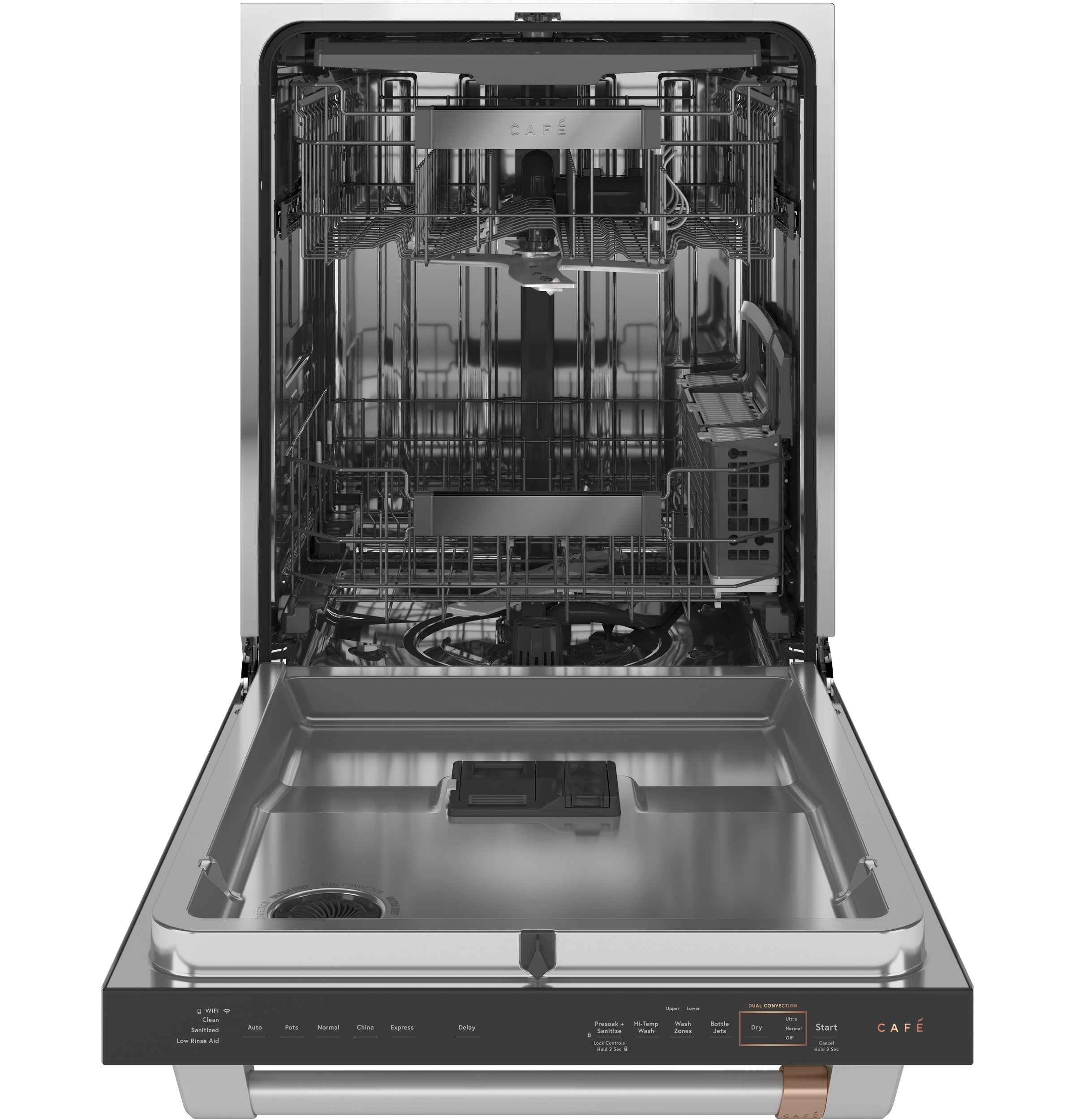 Model: CDT875P2NS1   Cafe Café™ Smart Stainless Steel Interior Dishwasher with Sanitize and Ultra Wash & Dual Convection Ultra Dry