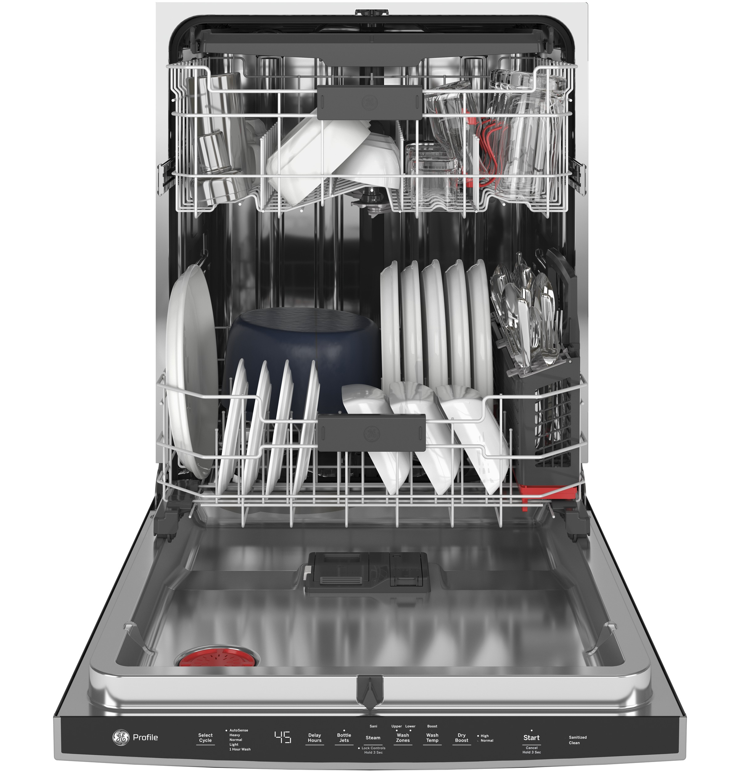 Model: PDP715SYNFS | GE Profile GE Profile™ Stainless Steel Interior Dishwasher with Hidden Controls