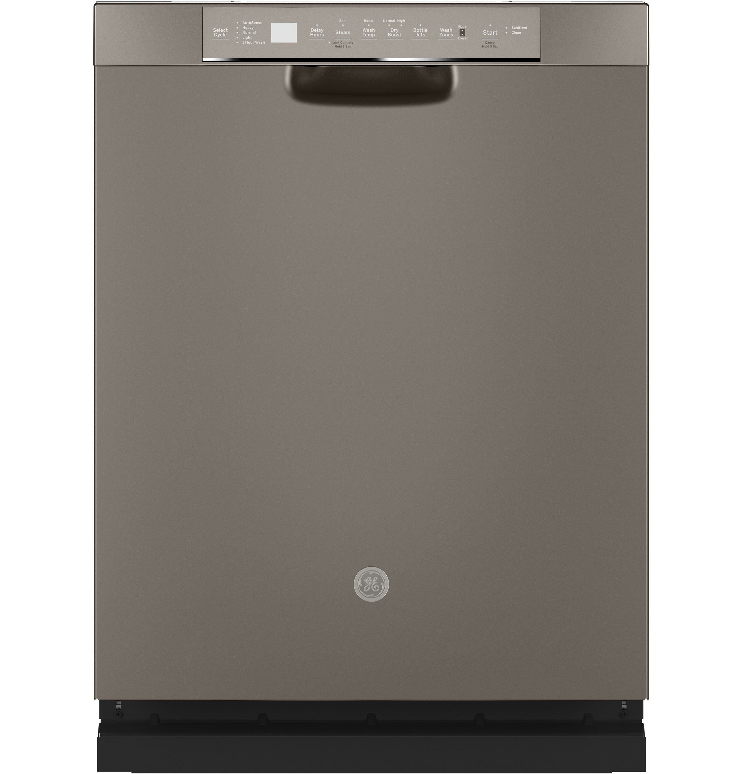 GE GE® Front Control with Stainless Steel Interior Dishwasher with Sanitize Cycle & Dry Boost
