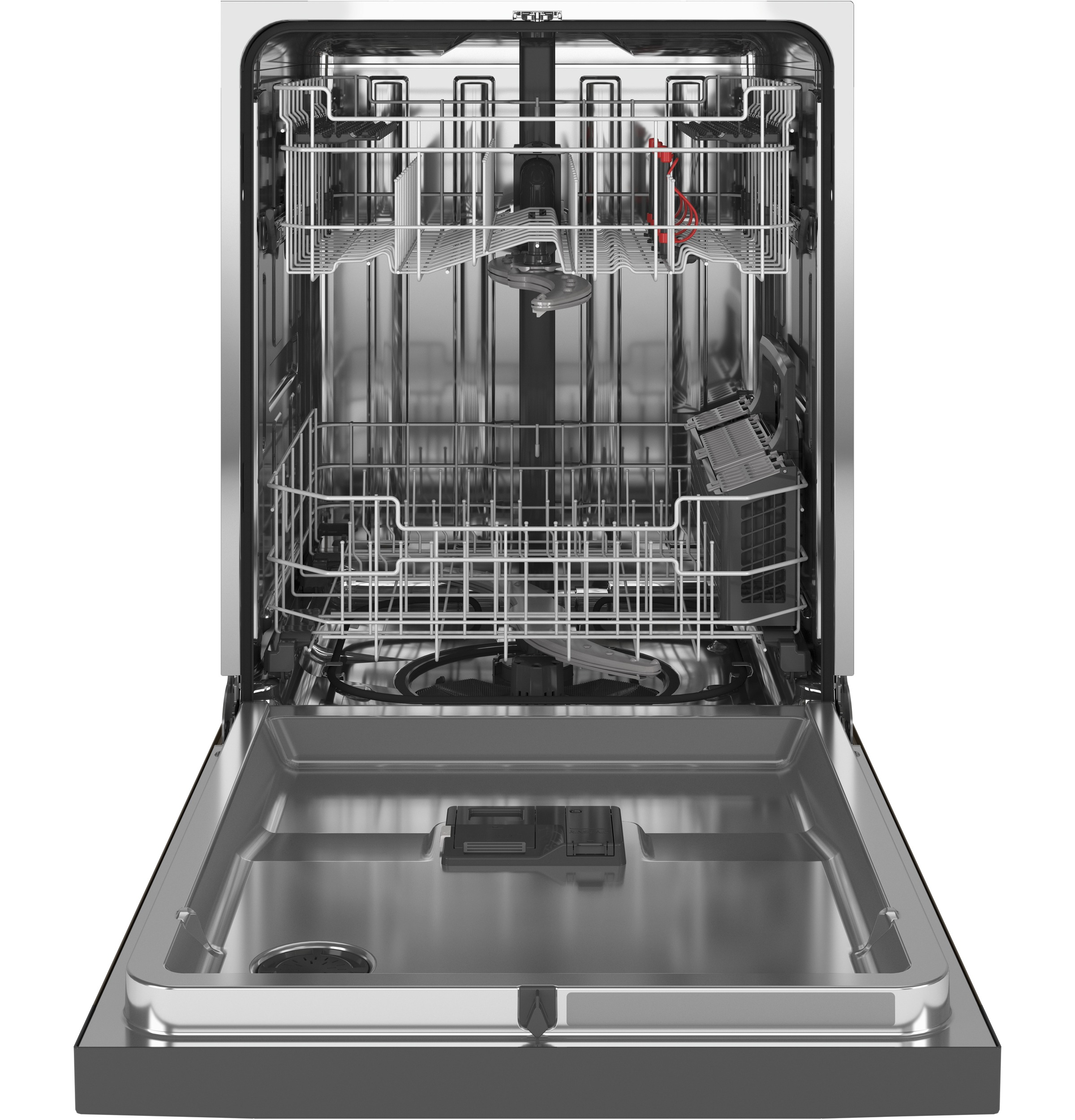 Model: GDF645SMNES | GE GE® Front Control with Stainless Steel Interior Dishwasher with Sanitize Cycle & Dry Boost
