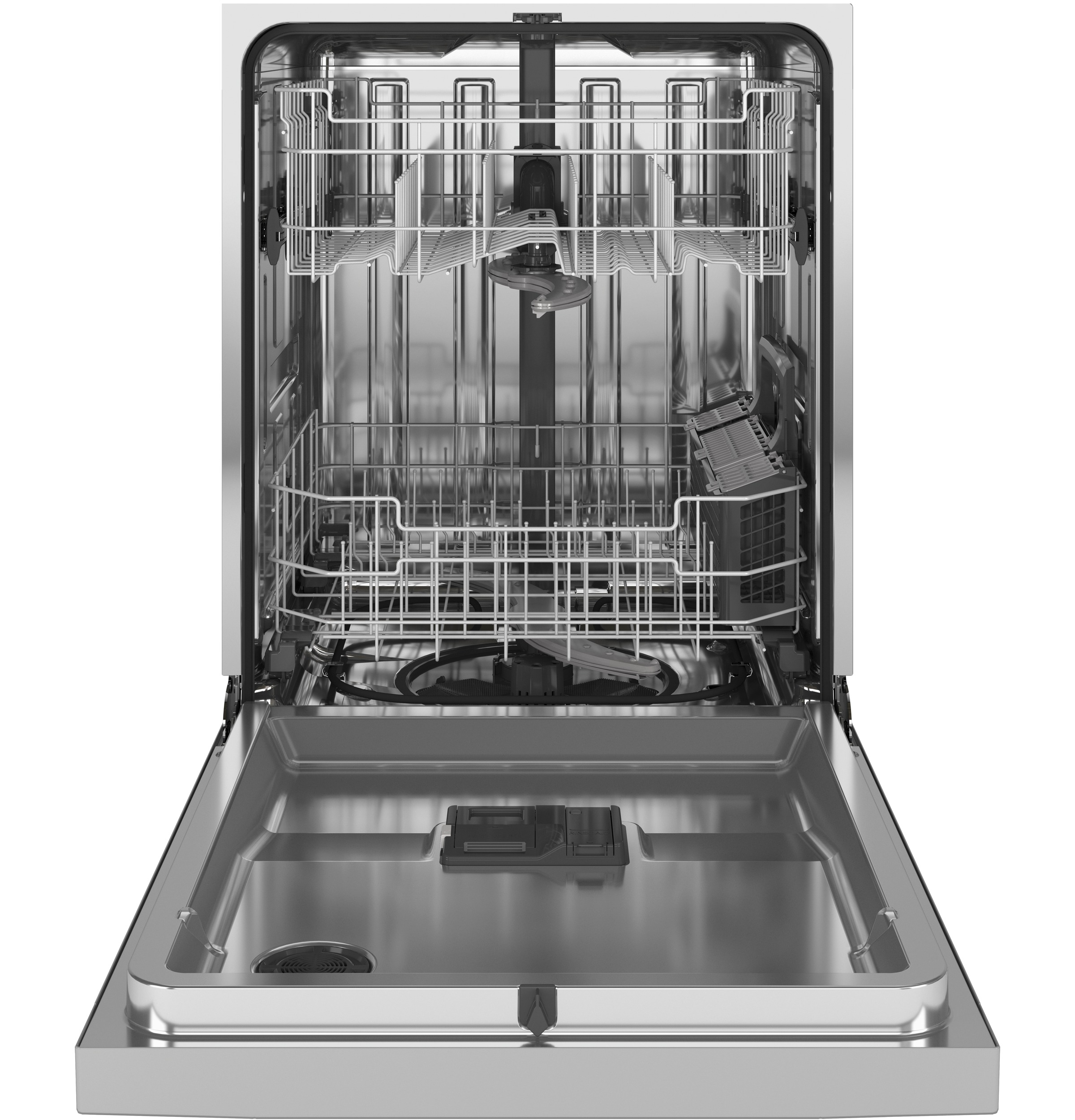 Model: GDF565SSNSS | GE GE® Front Control with Stainless Steel Interior Dishwasher with Sanitize Cycle & Dry Boost