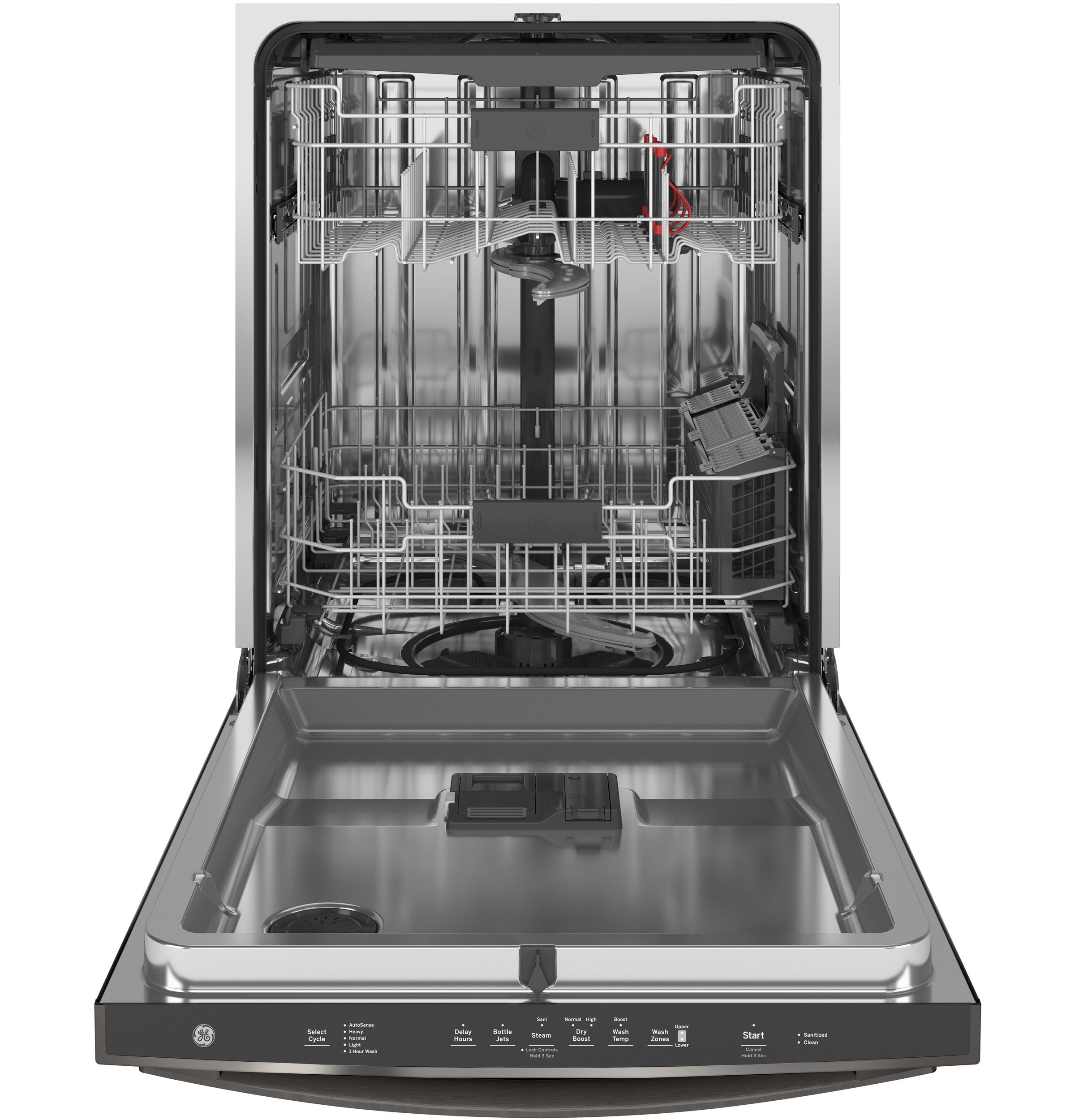 Model: GDT665SBNTS | GE GE® Top Control with Stainless Steel Interior Dishwasher with Sanitize Cycle & Dry Boost with Fan Assist