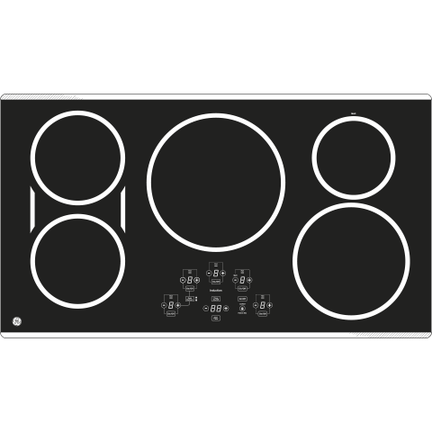 "Model: PHP9036BMTS | GE Profile GE Profile™ 36"" Built-In Touch Control Induction Cooktop"