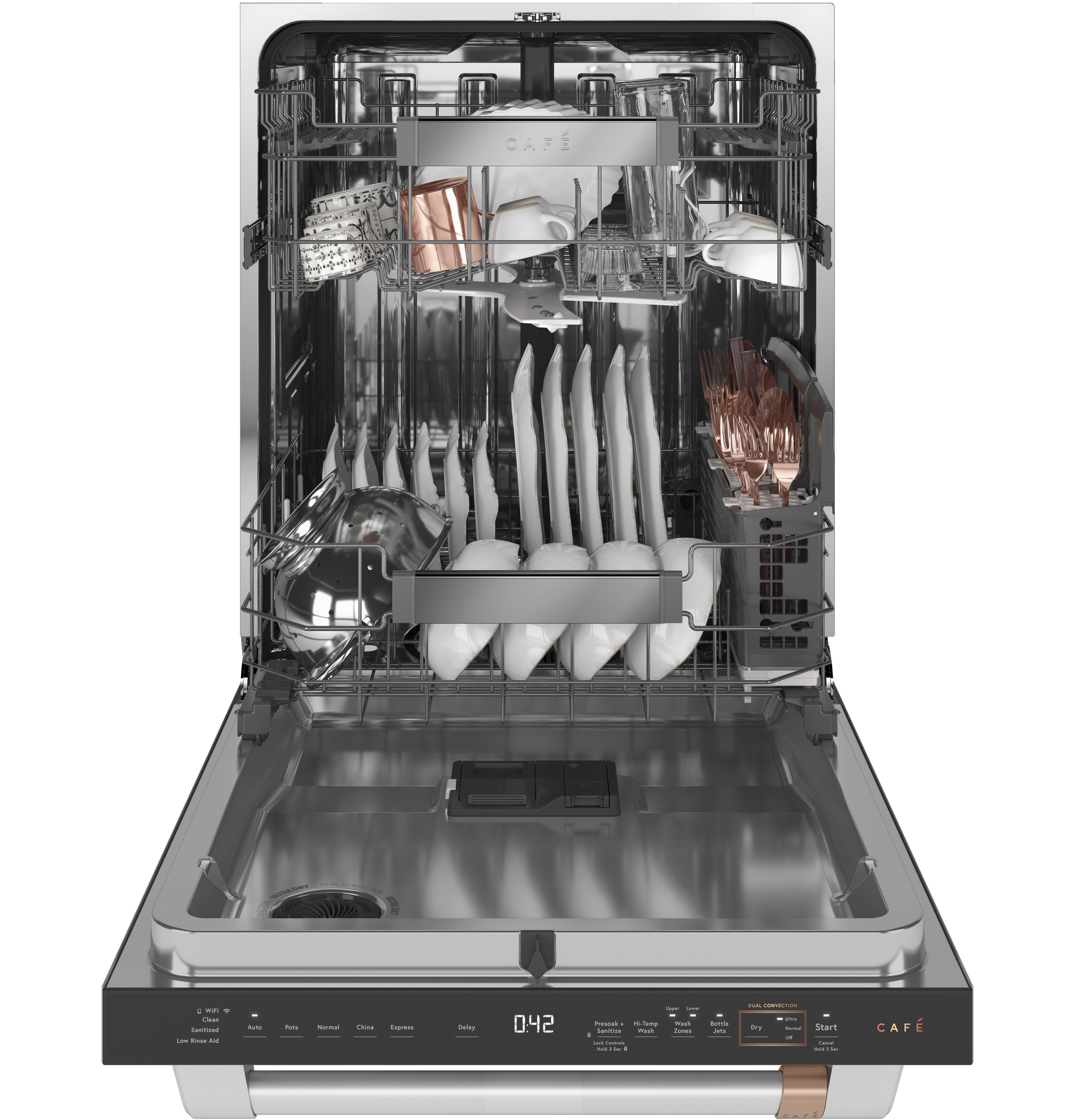 Model: CDT855P2NS1 | Cafe Café™ Smart Stainless Steel Interior Dishwasher with Sanitize and Ultra Wash & Dual Convection Ultra Dry