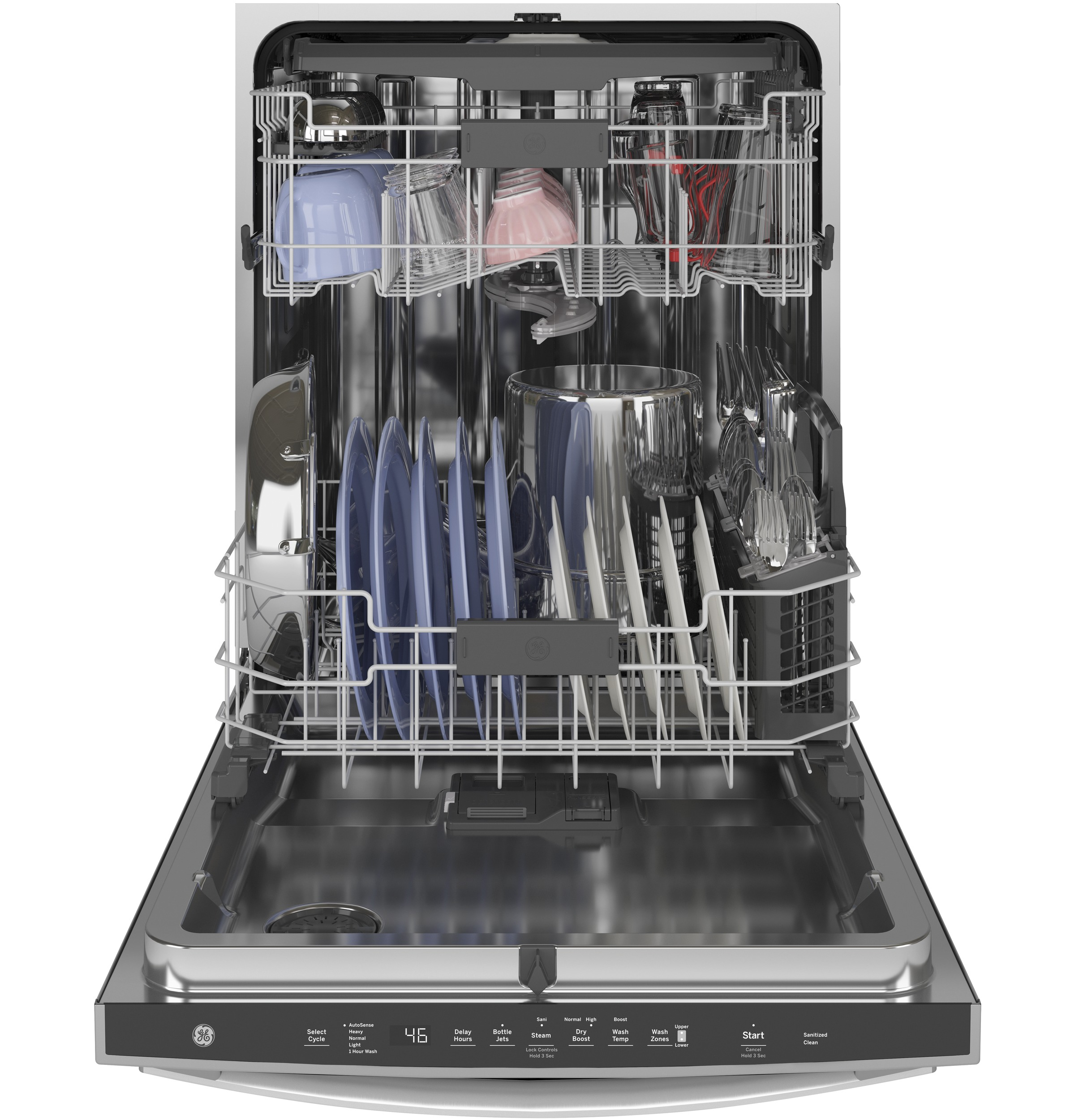 Model: GDP665SYNFS | GE GE® Stainless Steel Interior Dishwasher with Hidden Controls