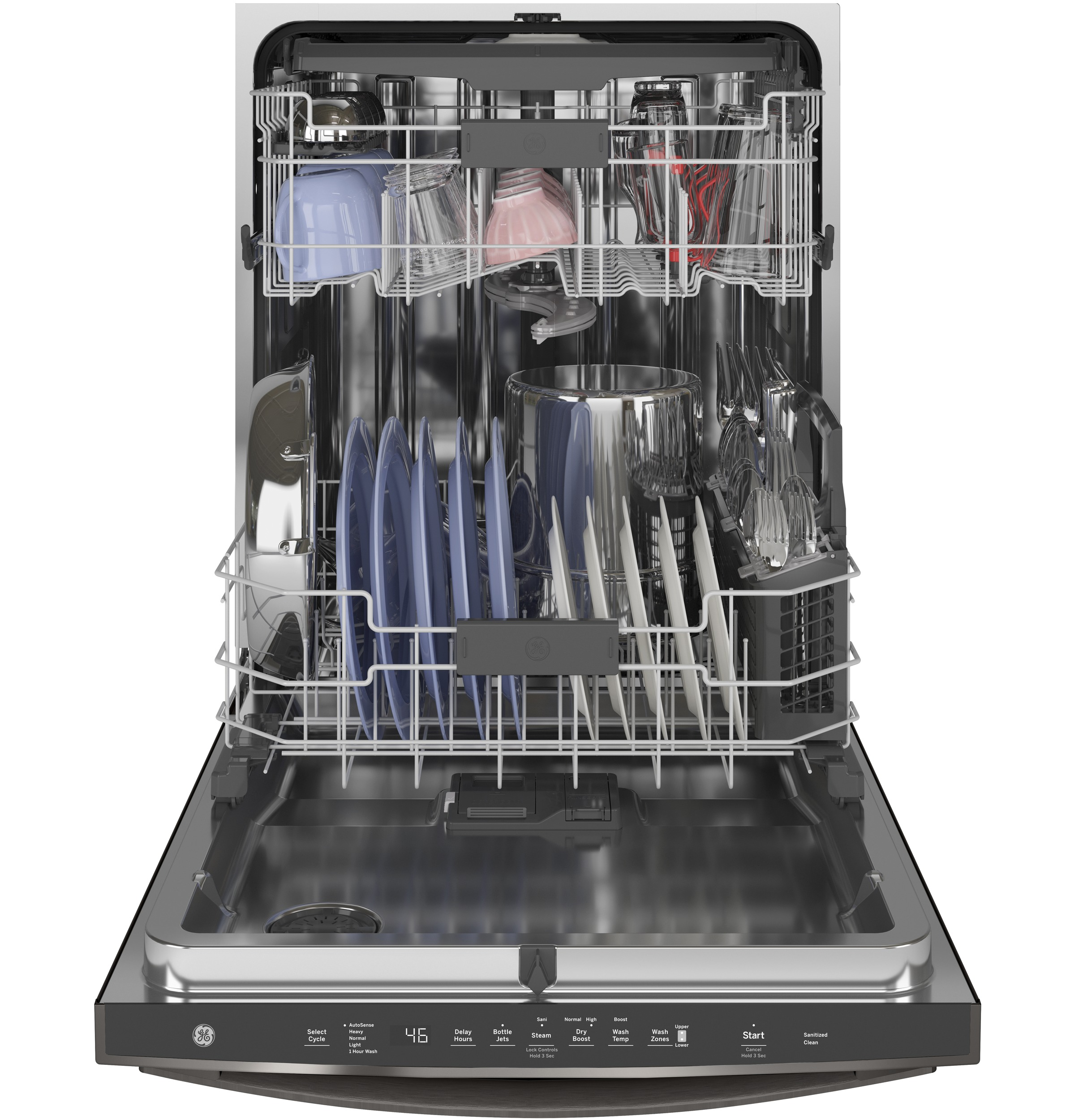 Model: GDT665SFNDS | GE GE® Stainless Steel Interior Dishwasher with Hidden Controls