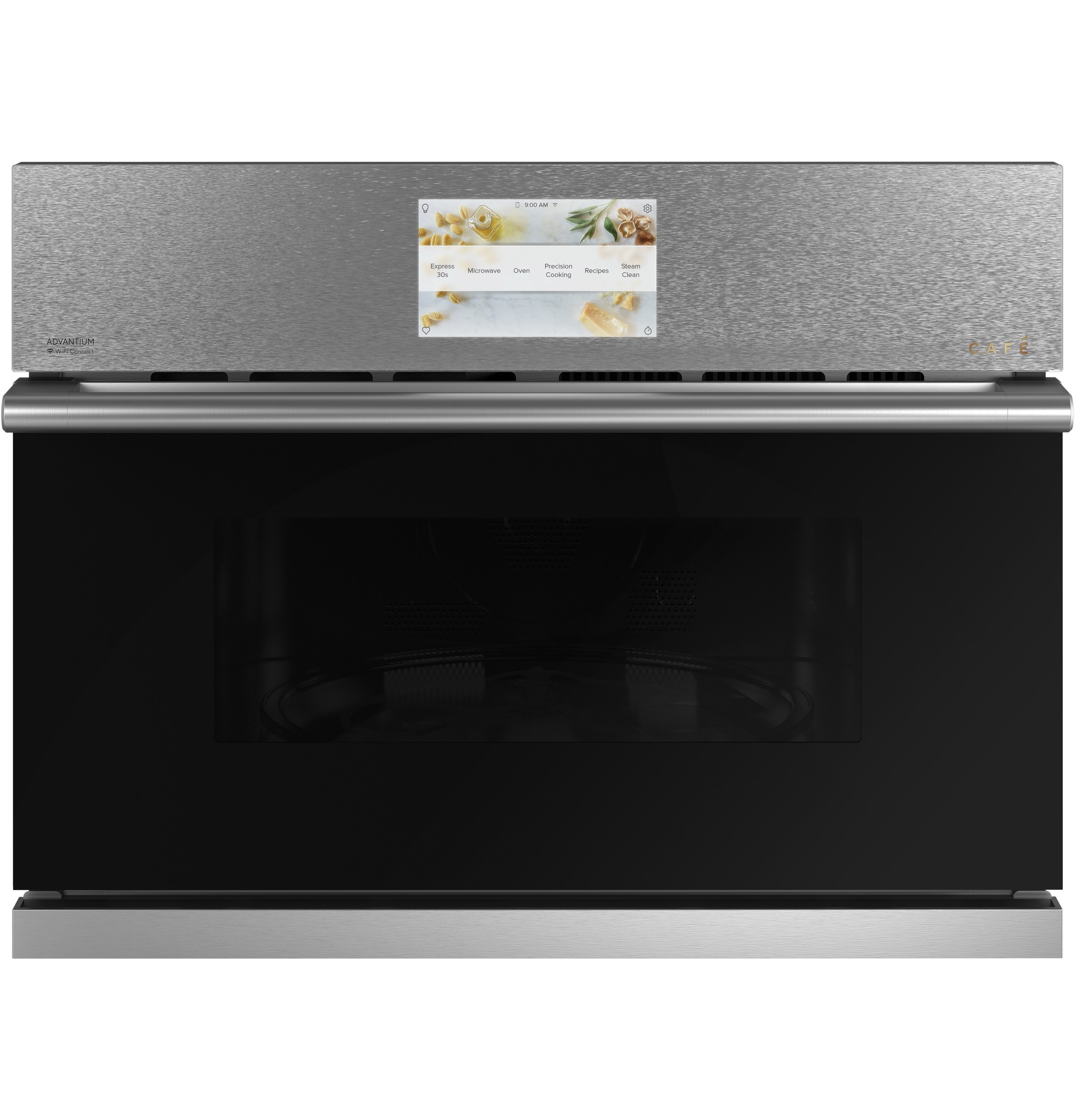 "Cafe Cafe™ 27"" Smart Five in One Oven with 120V Advantium® Technology in Platinum Glass"