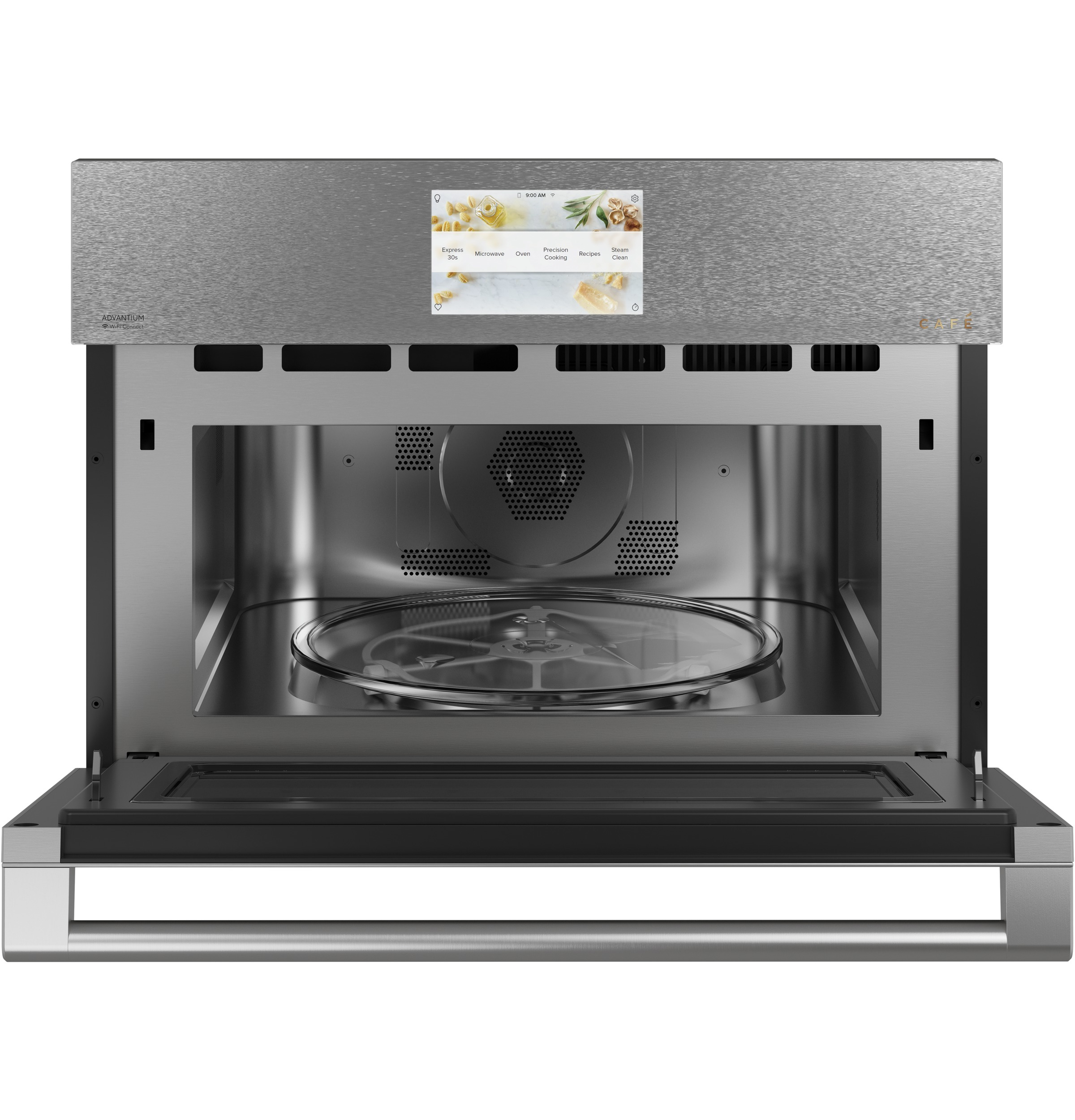 "Model: CSB912M2NS5 | Cafe Cafe™ 27"" Smart Five in One Oven with 120V Advantium® Technology in Platinum Glass"