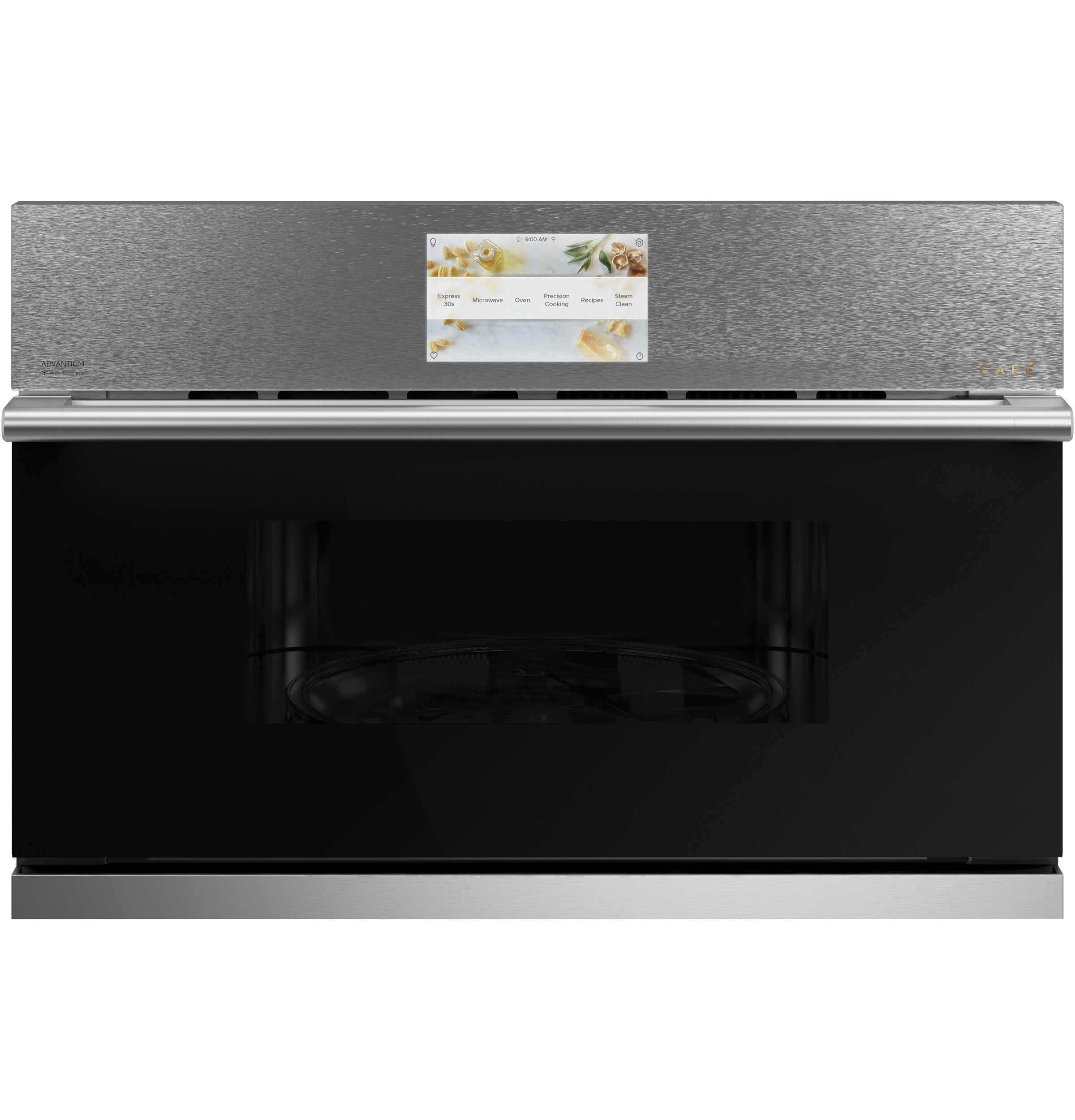 "Cafe Cafe™ 30"" Smart Five in One Wall Oven with 240V Advantium® Technology in Platinum Glass"