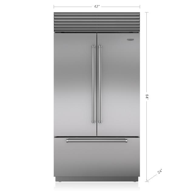 "Model: BI-42UFDID/S/TH | Sub-Zero 42"" Classic French Door Refrigerator/Freezer with Internal Dispenser"
