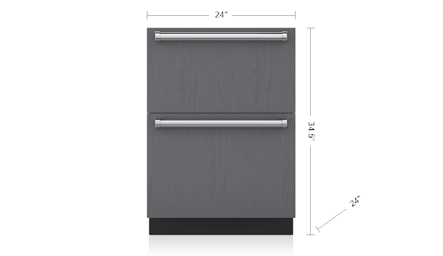 "Model: ID-24FI | Sub-Zero 24"" Designer Freezer Drawers with Ice Maker - Panel Ready"